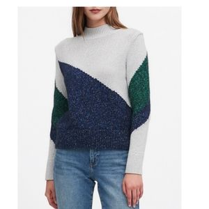 Banana Republic Metallic Color-Block Crop Sweater